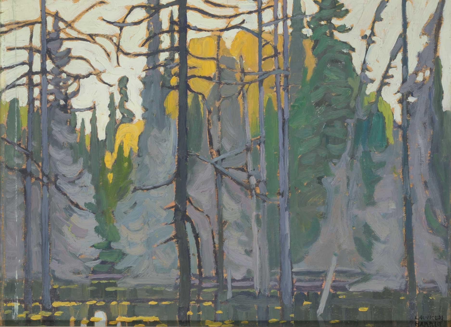 Lawren-S-Harris_Algoma-Sketch-LIV-Beaver-Drowned-Algoma_c.1920