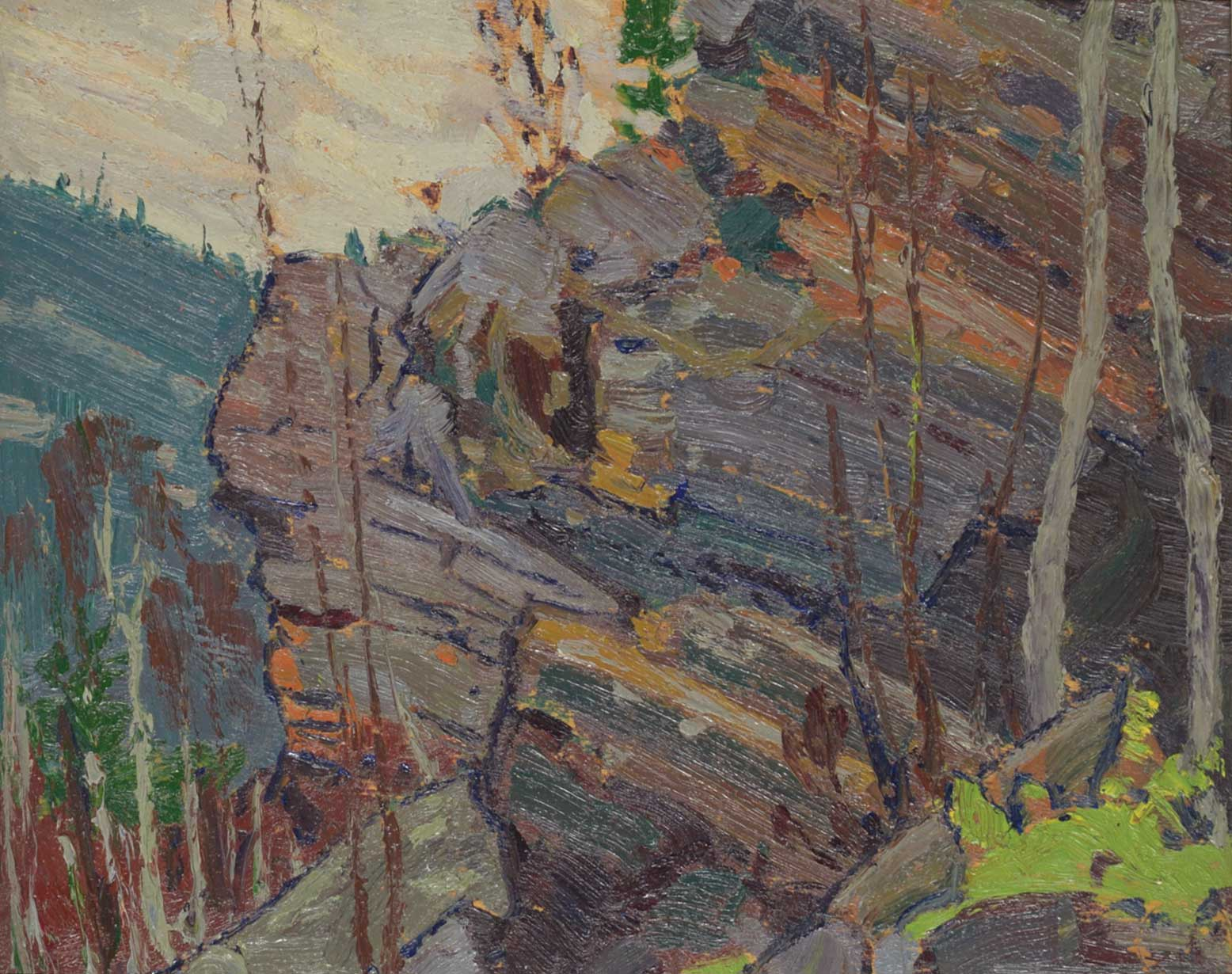 Tom-Thomson_Cliffs-Near-Petawawa_1916